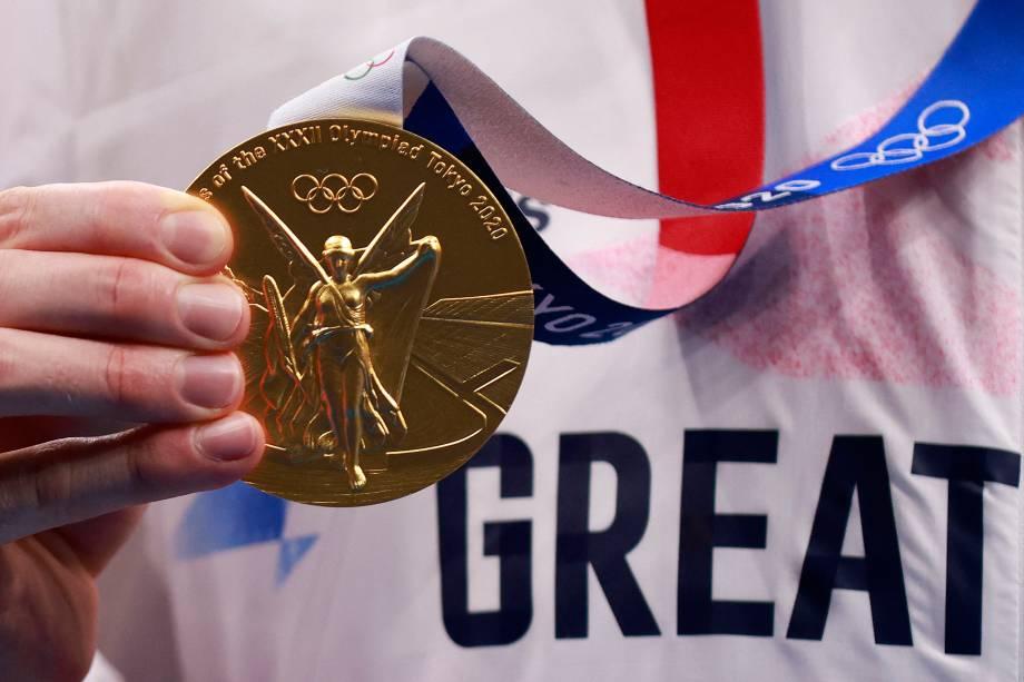 Tom Dean, da Grã-Bretanha, ouro nos 200m livres -