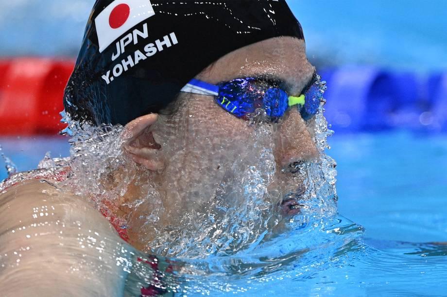 A japonesa Yui Ohashi na prova dos 200m medley -