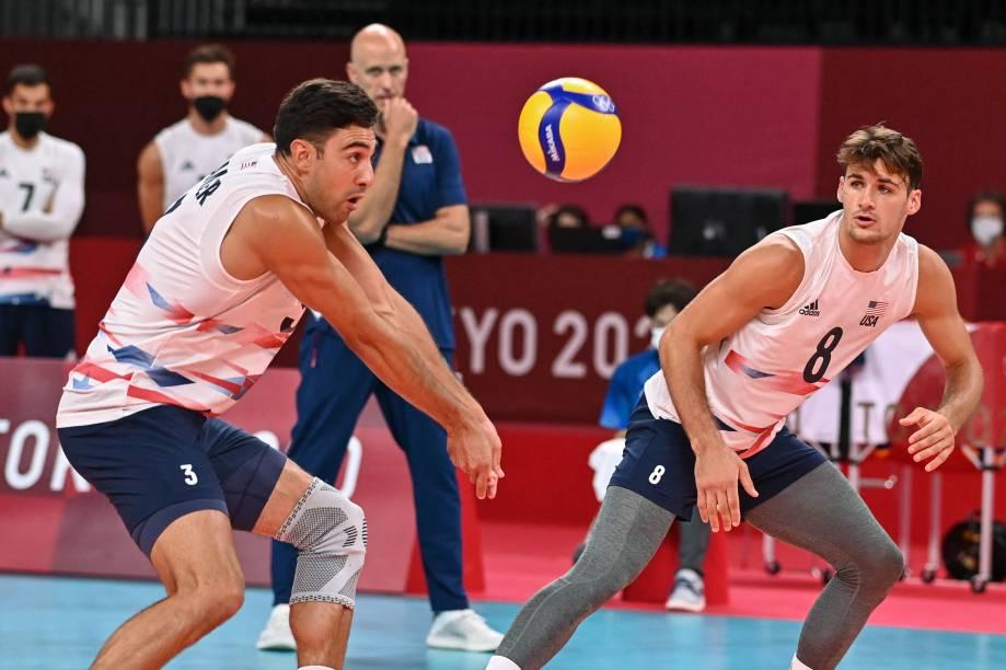 O americano Taylor Sander em ação durante a partida -