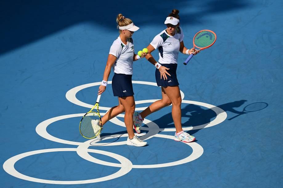 As tenistas brasileiras Laura Pigossi e Luisa Stefani -