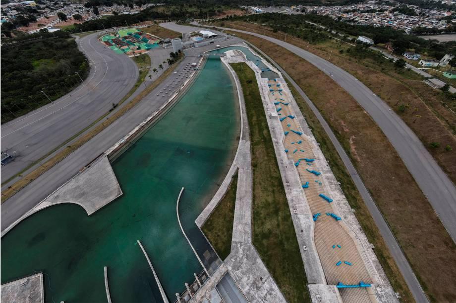 Parque Radical de Deodoro, no Rio de Janeiro, visto de drone -
