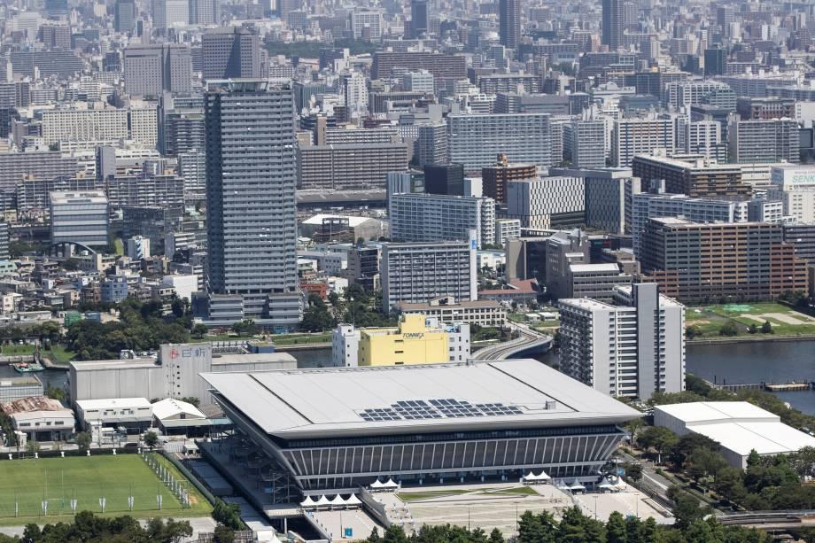 Tokyo Aquatics Center, local para natação, mergulho e nado artístico -