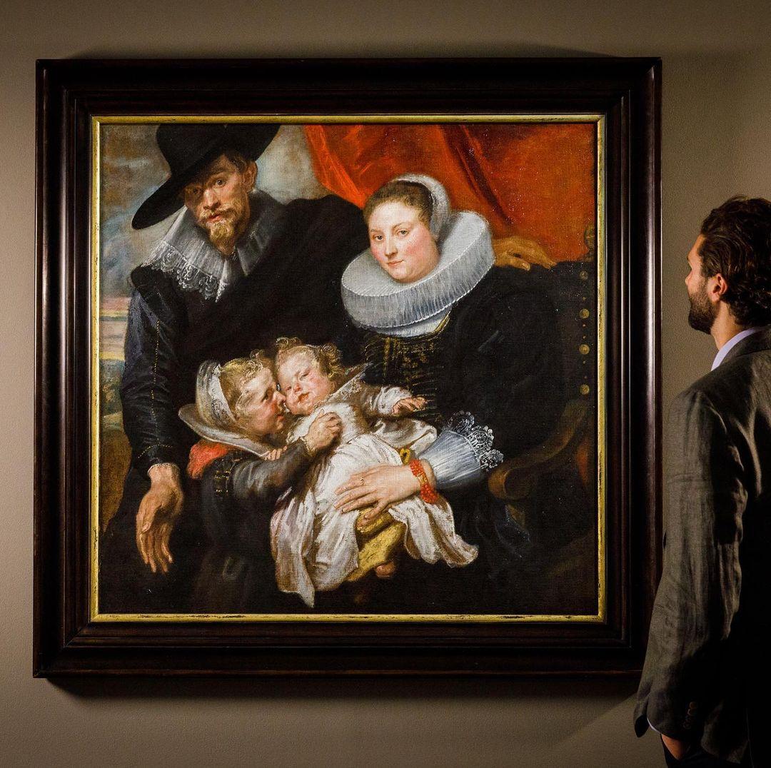 A obra 'Um Retrato de Família' do artista Antoon Van Dyck