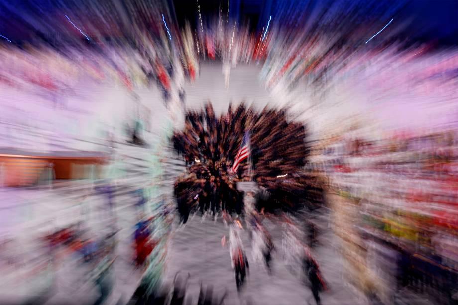 Delegação americana na cerimônia de abertura das Olimpíadas 2020 -