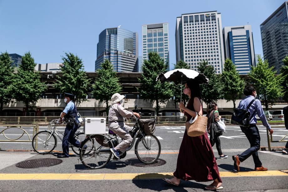 Movimentação em rua Tóquio -