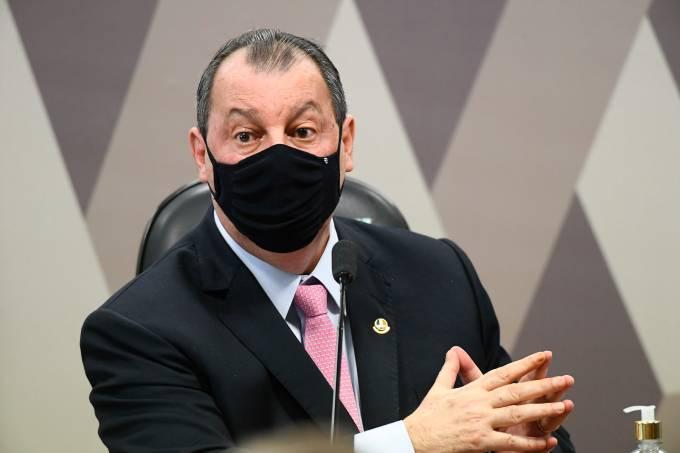 O presidente da CPI da Pandemia, Omar Aziz (PSD-AM)