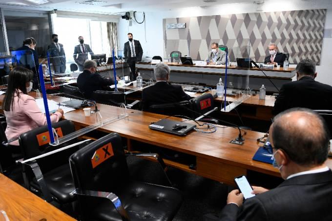 Sala de audiência da CPI da Pandemia no Senado –