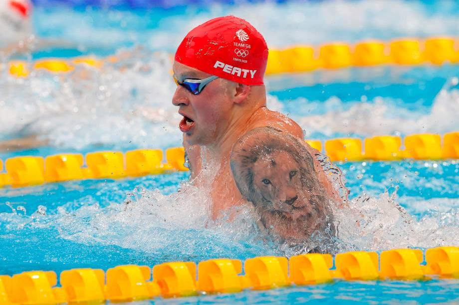 Adam Peaty, da Grã-Bretanha, nos 100m peito -