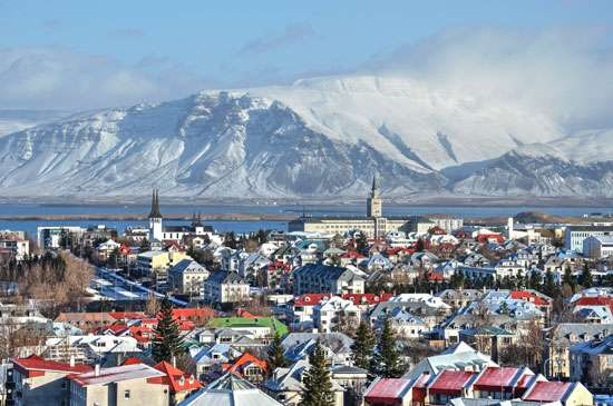 Reikjavik, na Islândia