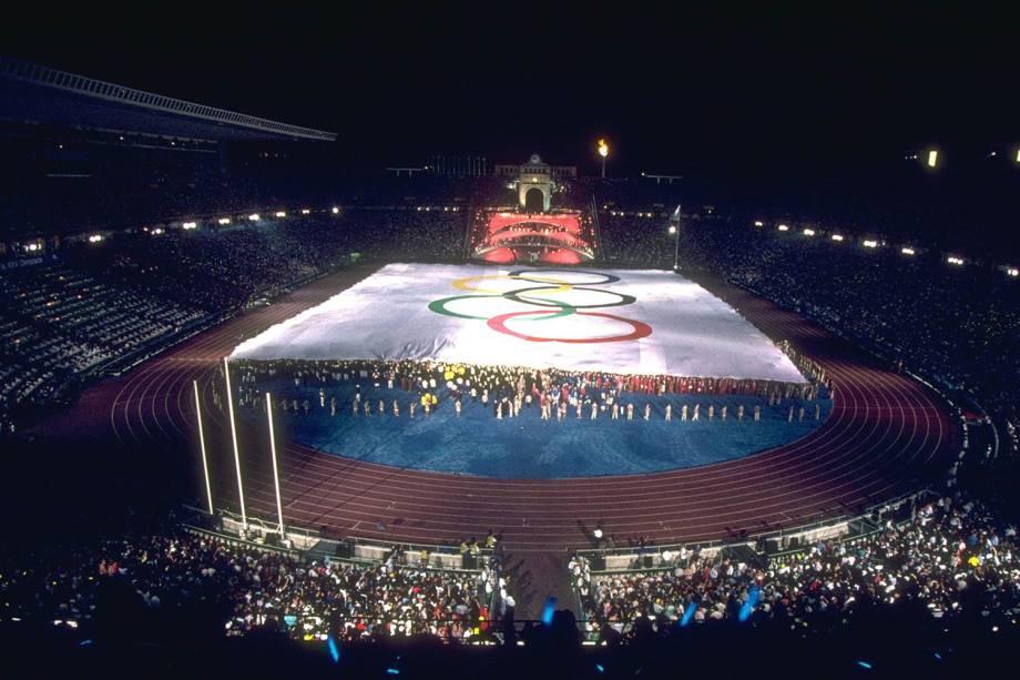 Cerimônia de Abertura dos Jogos Olímpicos de Barcelona, em 1992 -