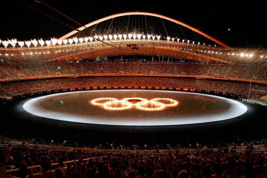 Cerimônia de Abertura dos Jogos Olímpicos de Atenas, em 2004 -