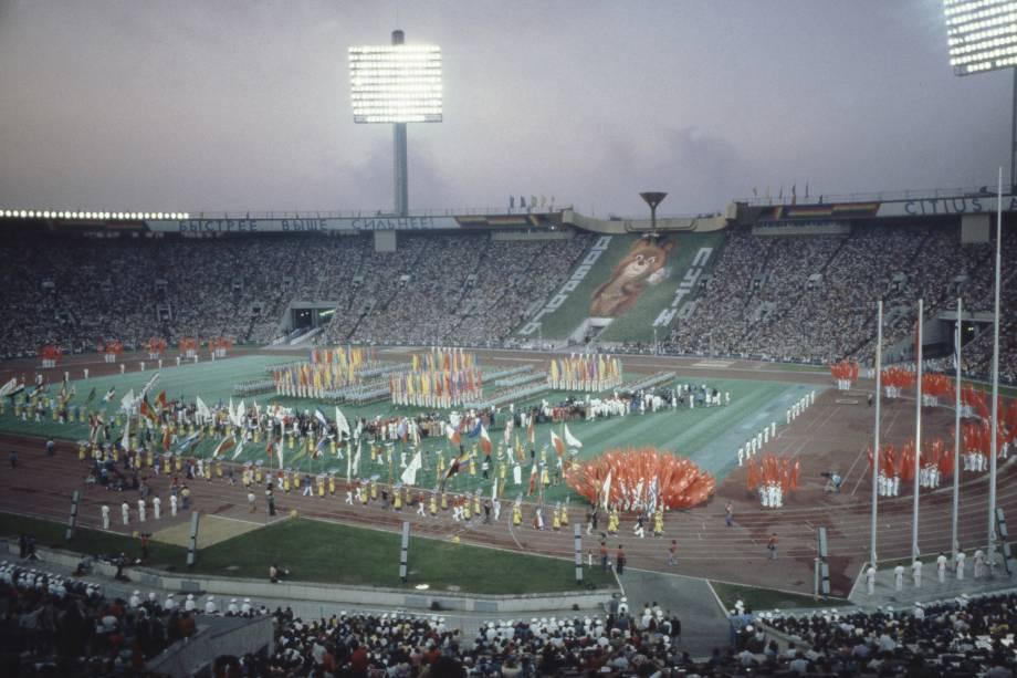 Cerimônia de Abertura dos Jogos Olímpicos de Moscou, em 1980 -