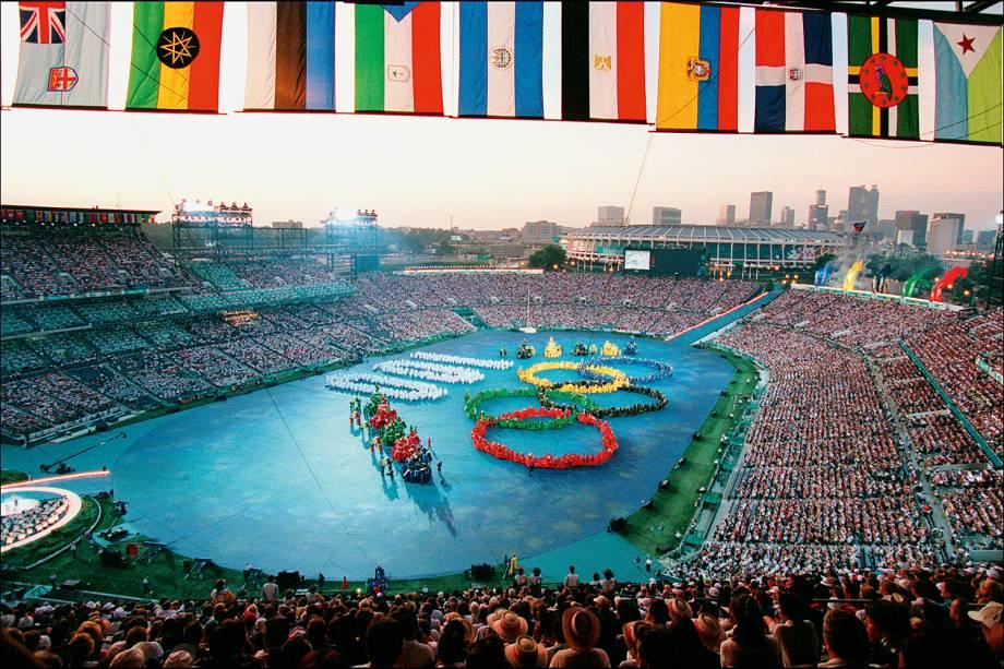 Cerimônia de Abertura dos Jogos Olímpicos de Atlanta, em 1996 -