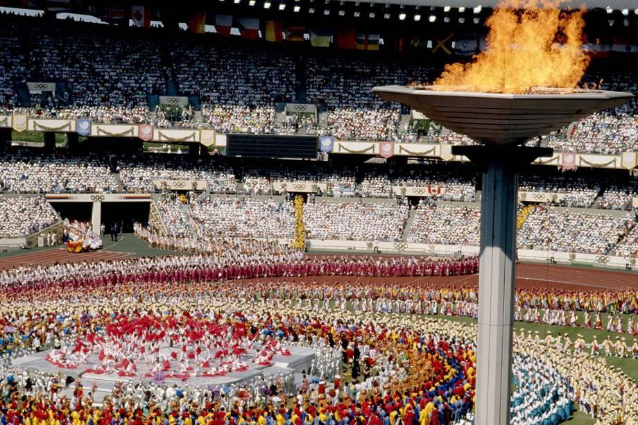 Cerimônia de Abertura dos Jogos Olímpicos de Seul, em 1988 -