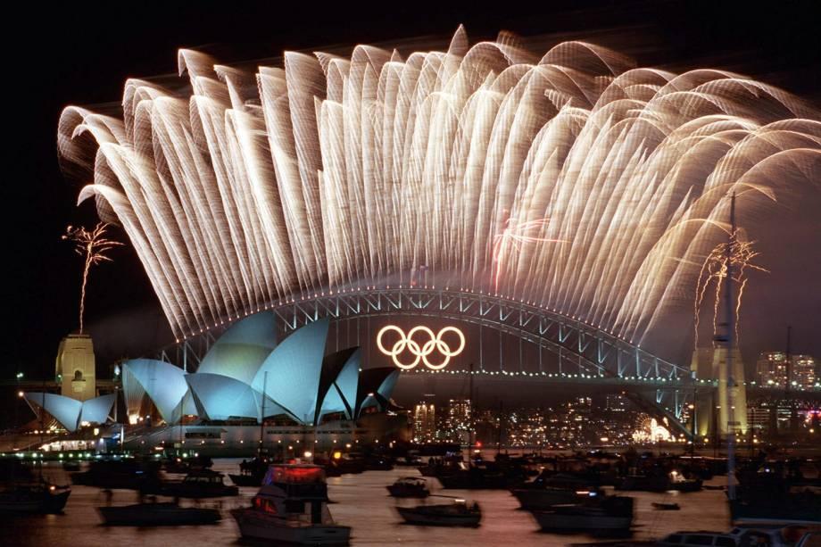 Cerimônia de Abertura dos Jogos Olímpicos de Sydney, em 2000 -