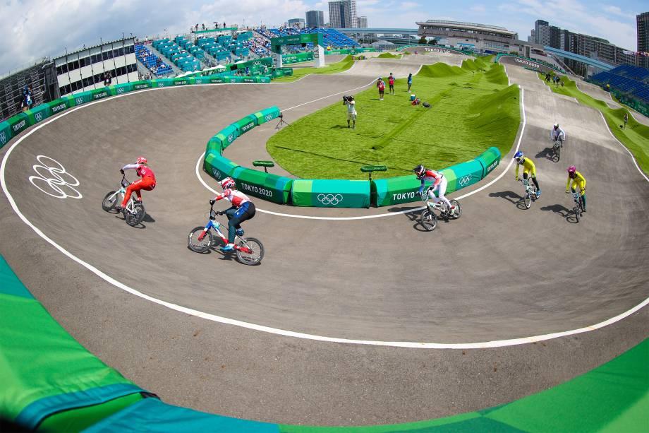 Prova de ciclismo BMX feminino -