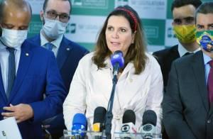 Bia Kicis (PSL) e outros deputados bolsonaristas da comissão especial do voto impresso