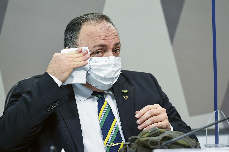 HIERARQUIA -Pazuello: questões estratégicas eram debatidas no Planalto -