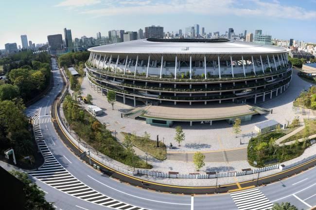 O estádio olímpico para esta edição dos Jogos de Tóquio é um projeto de Kengo Kuma