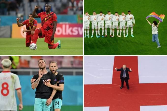 Racismo, movimento LGBT+, nazismo e nacionalismo foram temas relevantes nesta Eurocopa