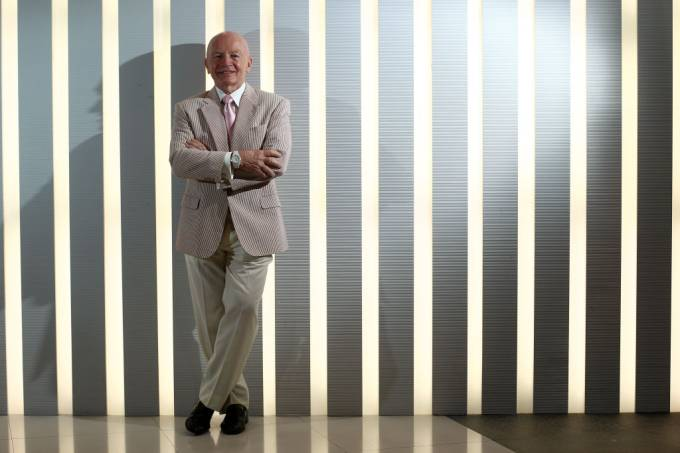 Mark Mobius, Executive Chairman, Templeton Emerging Markets Group, Franklin Templeton Investments, poses for photography at his office in Central. 05SEP11