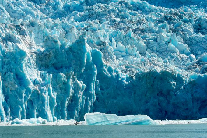 View of the Sawyer Glacier in Tracy Arm, a fjord in Alaska