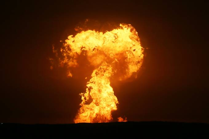 Explosion in Caspian Sea off Azerbaijani coast