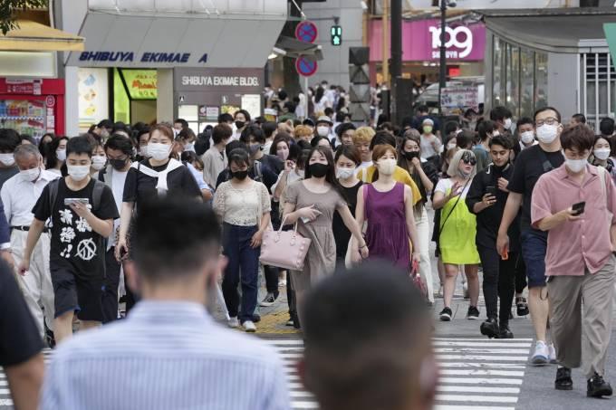 Scene in Tokyo amid coronavirus pandemic