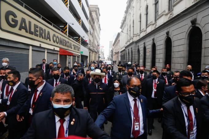 Peru's new president Castillo takes office – protests