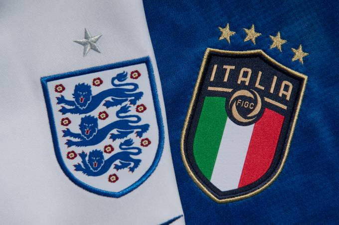 The England and Italy Badges