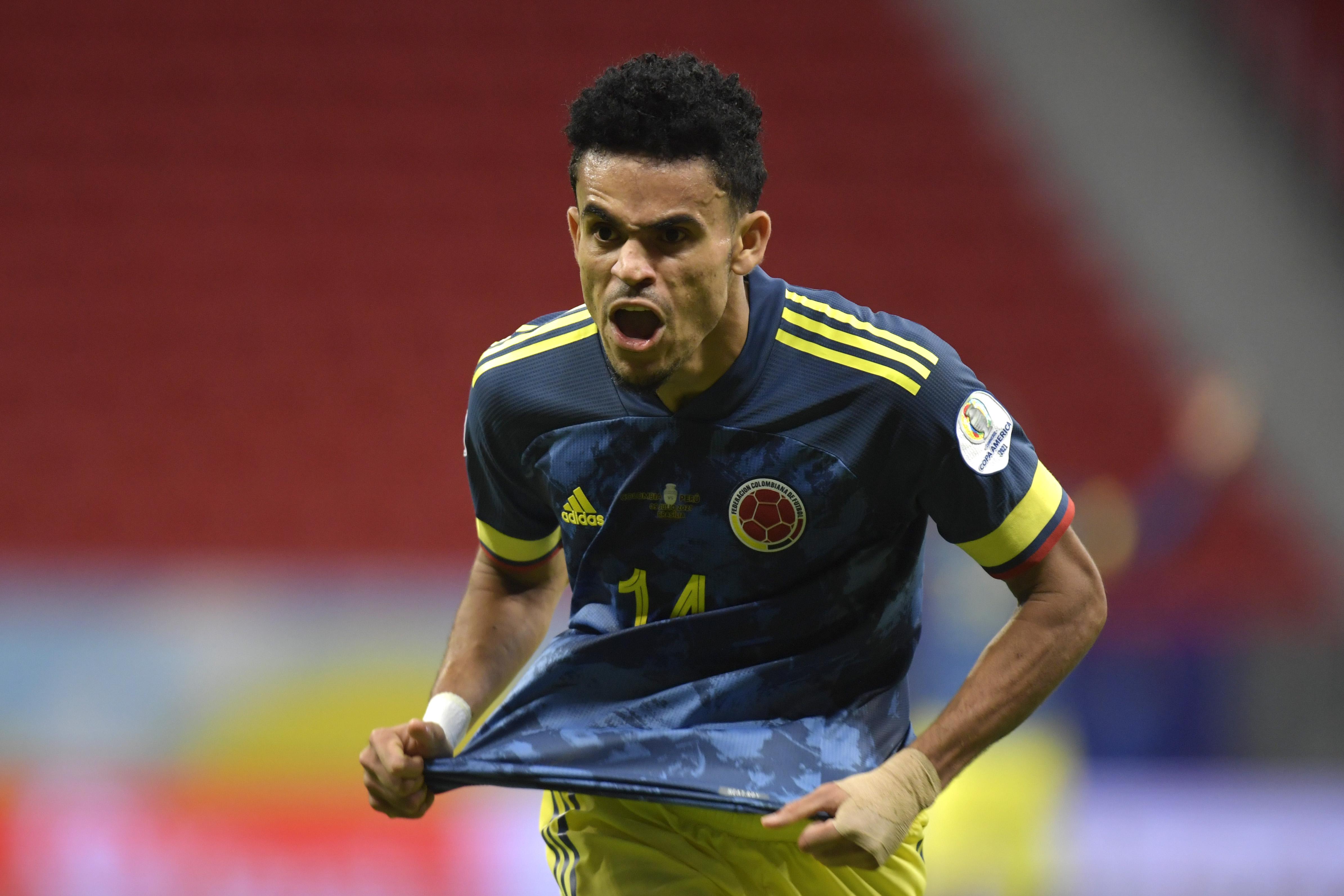 Luis Díaz foi o principal destaque da seleção colombiana -