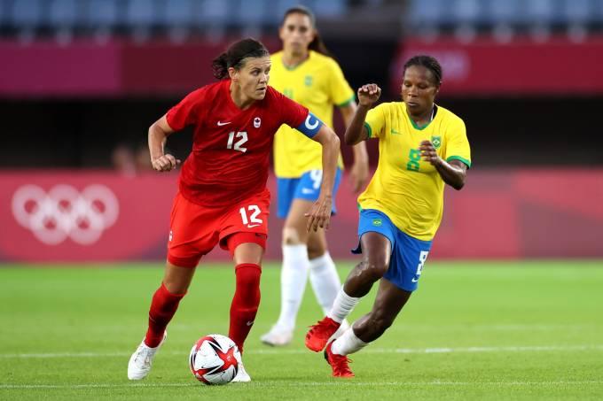 Canada v Brazil: Women's Football QuarterFinal – Olympics: Day 7