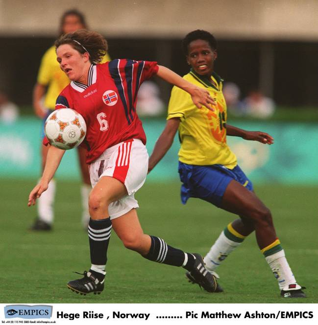 Hege Riise , Norway (Photo by Matthew Ashton/EMPICS via Getty Images)