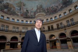 PARIS, FRANCE - JUNE 26: Architect Tadao Ando attends the Press Conference to announce the transformation of the former Paris Stock Exchange into the New Museum of the Pinault Foundation on June 26, 2017 in Paris, France. (Photo by Luc Castel/Getty Images)