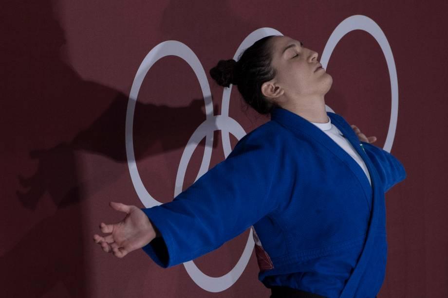 A judoca brasileira Mayra Aguiar -