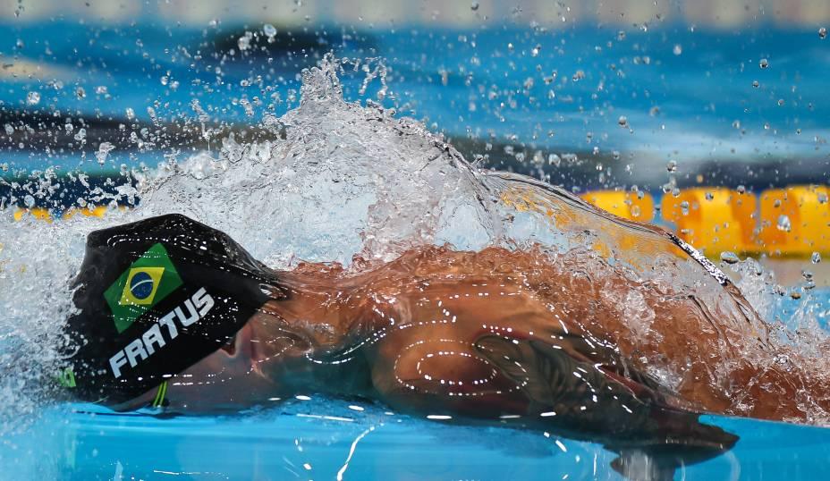 Bruno Fratus em ação durante a prova do 50m rasos -