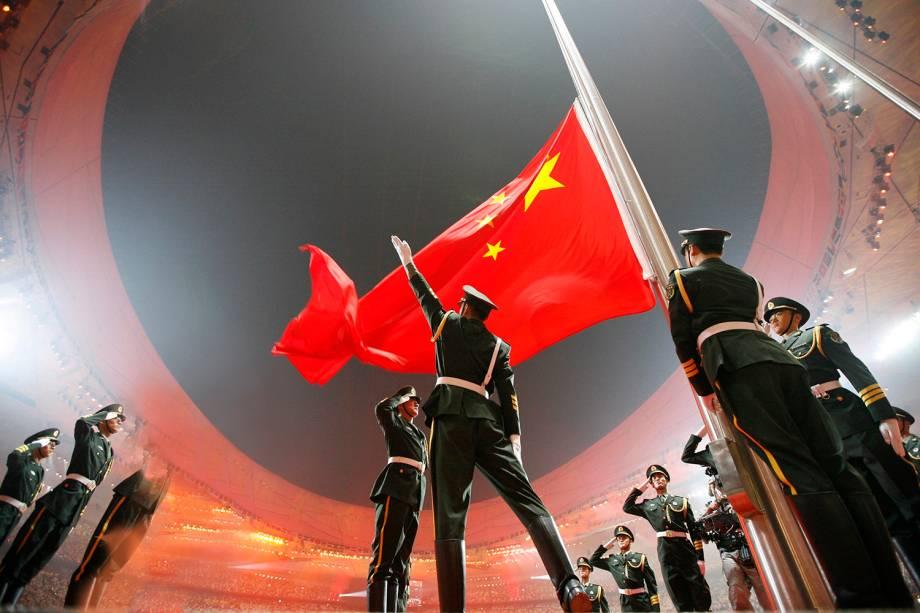 Cerimônia de Abertura dos Jogos Olímpicos de Pequim, em 2008 -