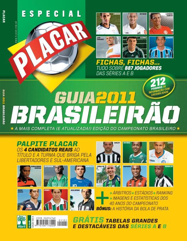 Capa da Revista Placar com o guia do Brasileirão 2011 -