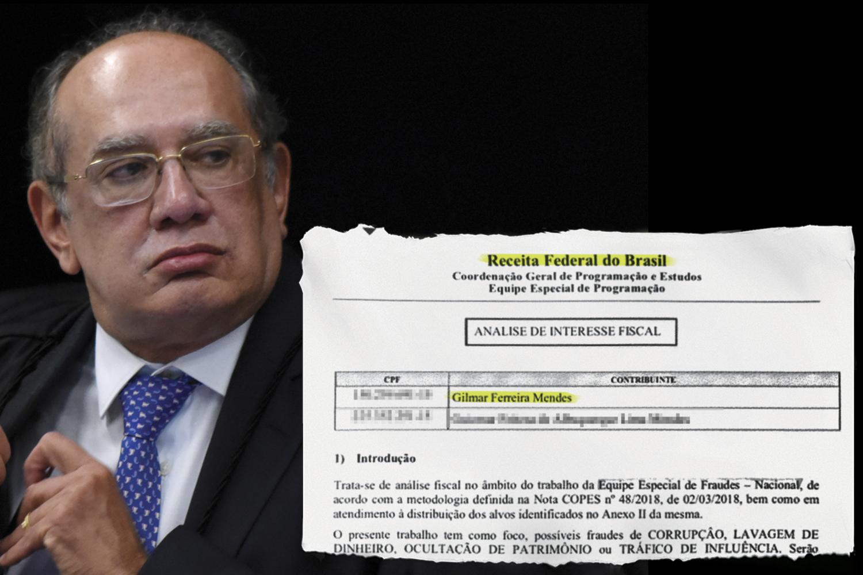 ESTADO PARALELO -O ministro Gilmar Mendes: ele, sua esposa, seus parentes e até a mãe, já falecida, foram enredados em uma investigação ilegal da Receita Federal -