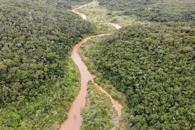 Imagem de 2021 do local do desastre de Mariana (MG) divulgado pela Fundação Renova após reflorestamento