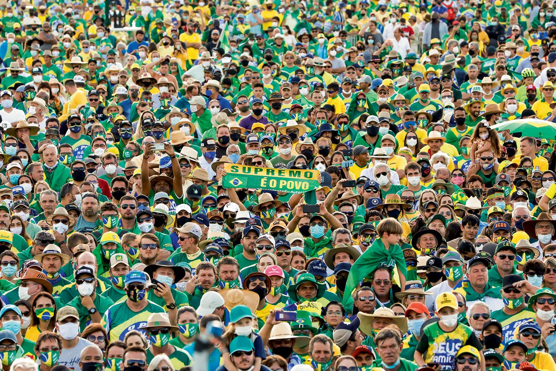 INIMIGO ÍNTIMO- Manifestação em Brasília: o STF sempre foi um dos alvos preferenciais dos protestos de rua bolsonaristas -