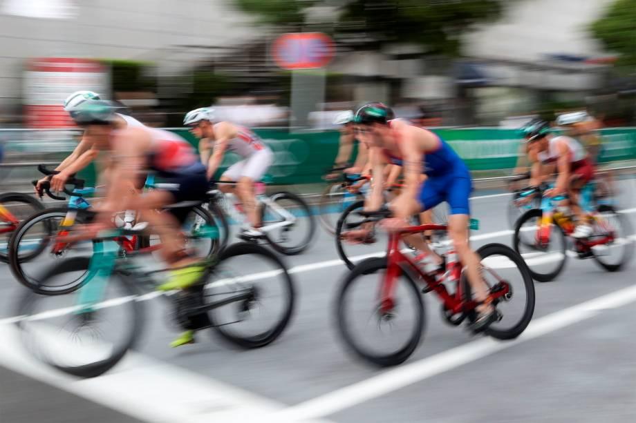Prova de triatlo masculina -
