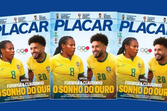 Formiga e Claudinho na capa da edição de julho da Revista Placar –
