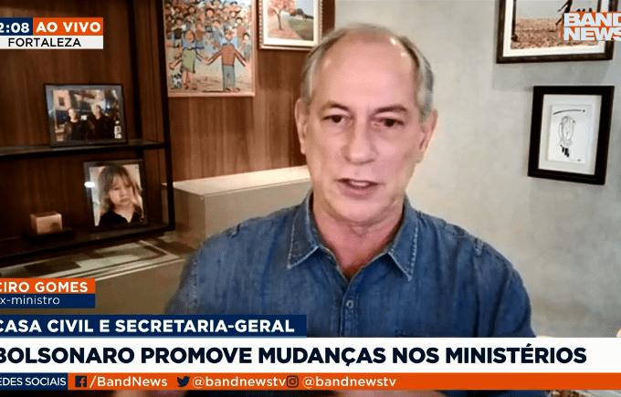 Ciro Gomes em entrevista à BandNews – 27.07.2021