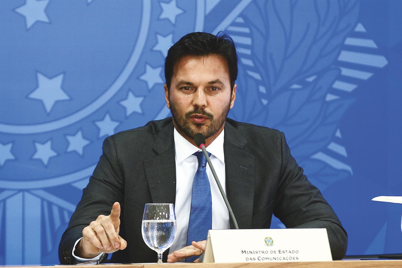REFORÇO -Faria: o ministro das Comunicações anunciou que vai se filiar ao PP -