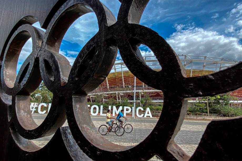 Detalhe do Parque Olímpico, atualmente, no Rio de Janeiro -