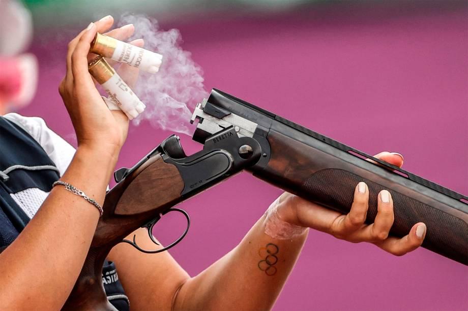 Ana Waleska Soto Abril, da Guatemala, em prova de tiro -