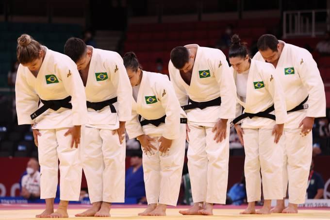 Equipe brasileira de judô em Tóquio