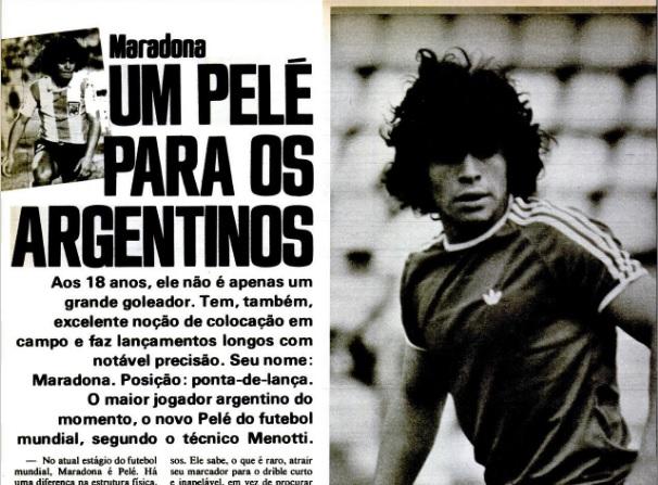 Maradona em edição da PLACAR de 1978