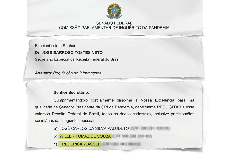 RASTREAMENTO -Requerimento sigiloso da CPI pede informações à Receita Federal sobre pessoas próximas ao senador Flávio Bolsonaro: atrás de pistas -